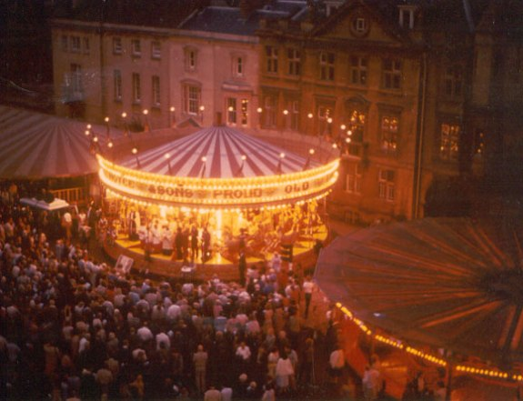 St.Giles Fair, Oxford, 2004. A fair has been held in this location since the 17th Century.